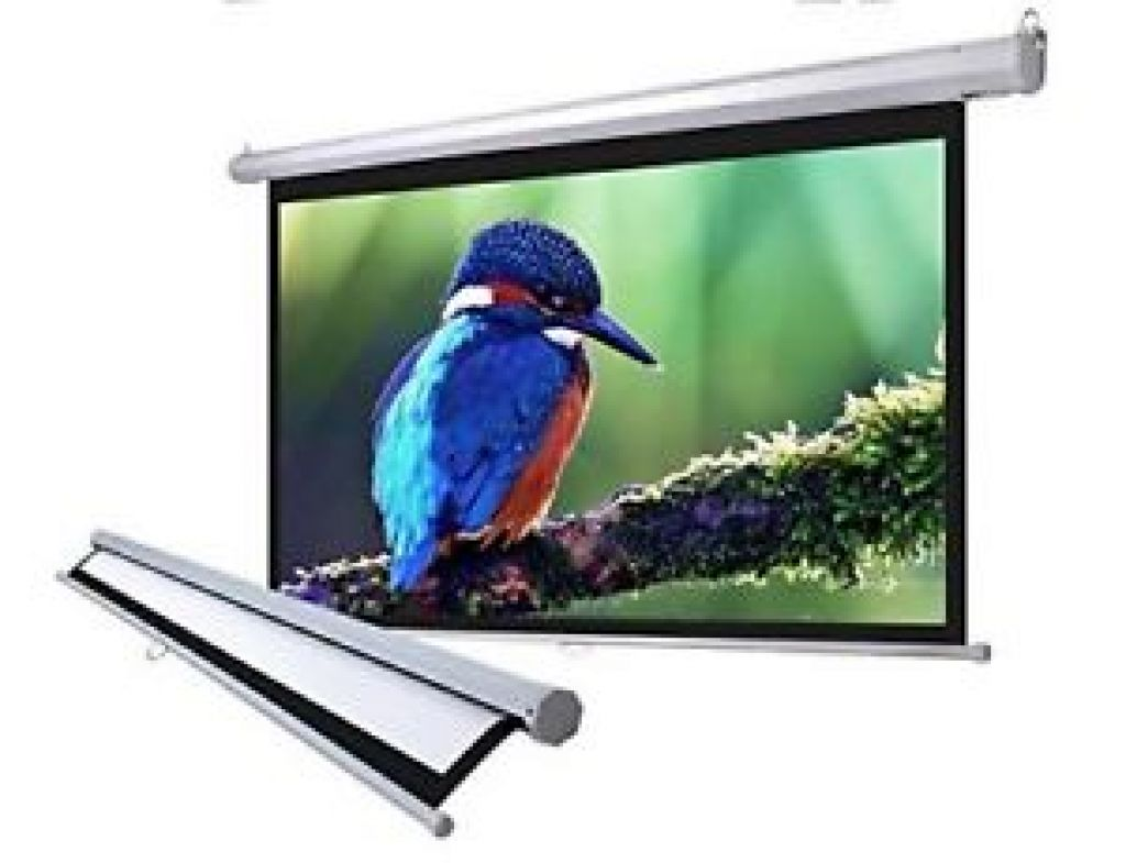"100"" 16:9 Home Movie Manual Projection Screen Pull Down Projector Matte 169 689744728120 