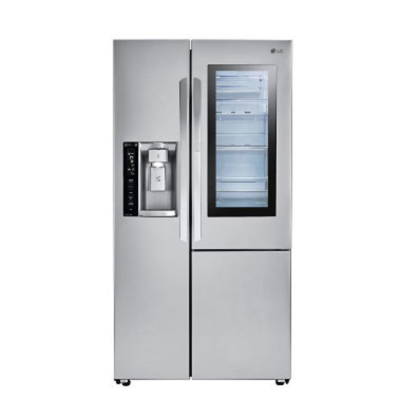 LG - LSXC22396S - 22 cu ft InstaView Door-in-Door Side-By-Side Counter-Depth Refrigerator - Stainless Steel - Sam's Club