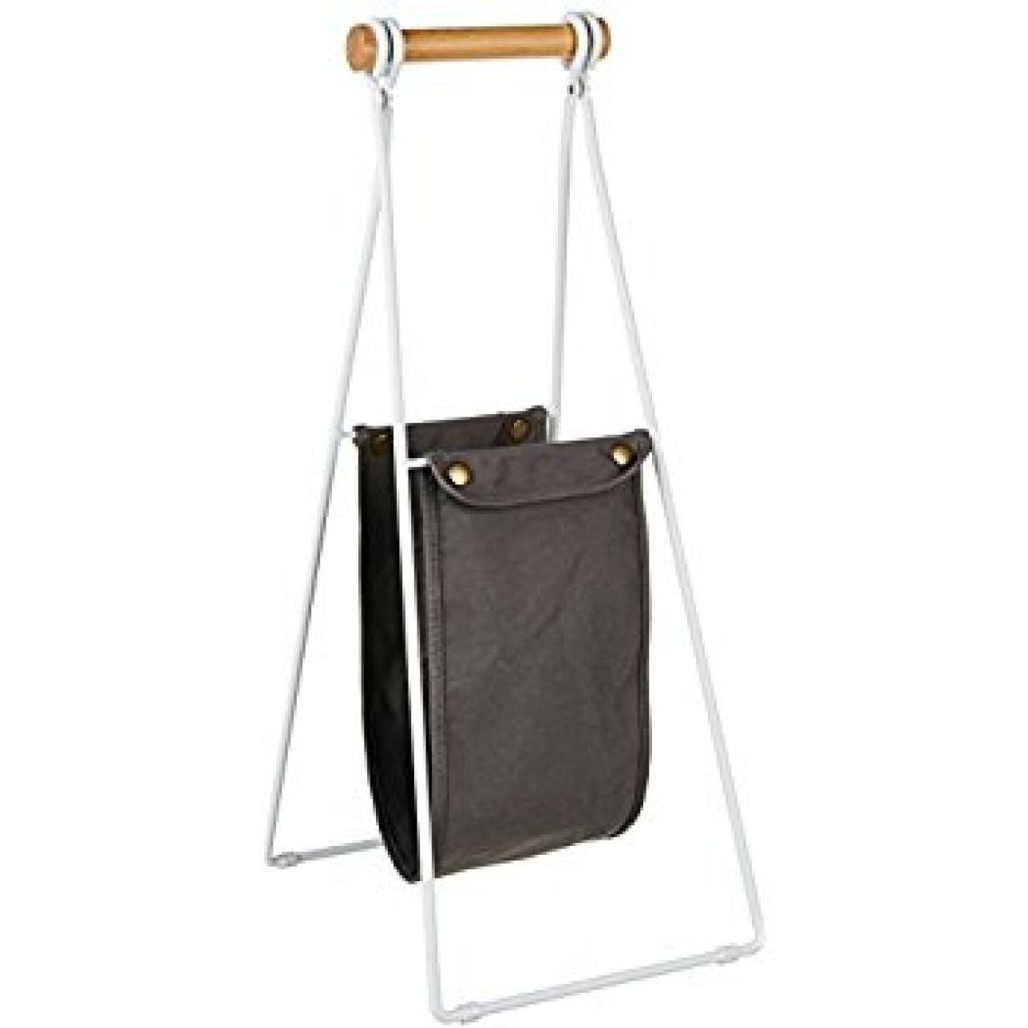 Amazon.com: AmazonBasics Free Standing Toilet Paper Stand with Sling Reserve - White/Beech: Home & Kitchen