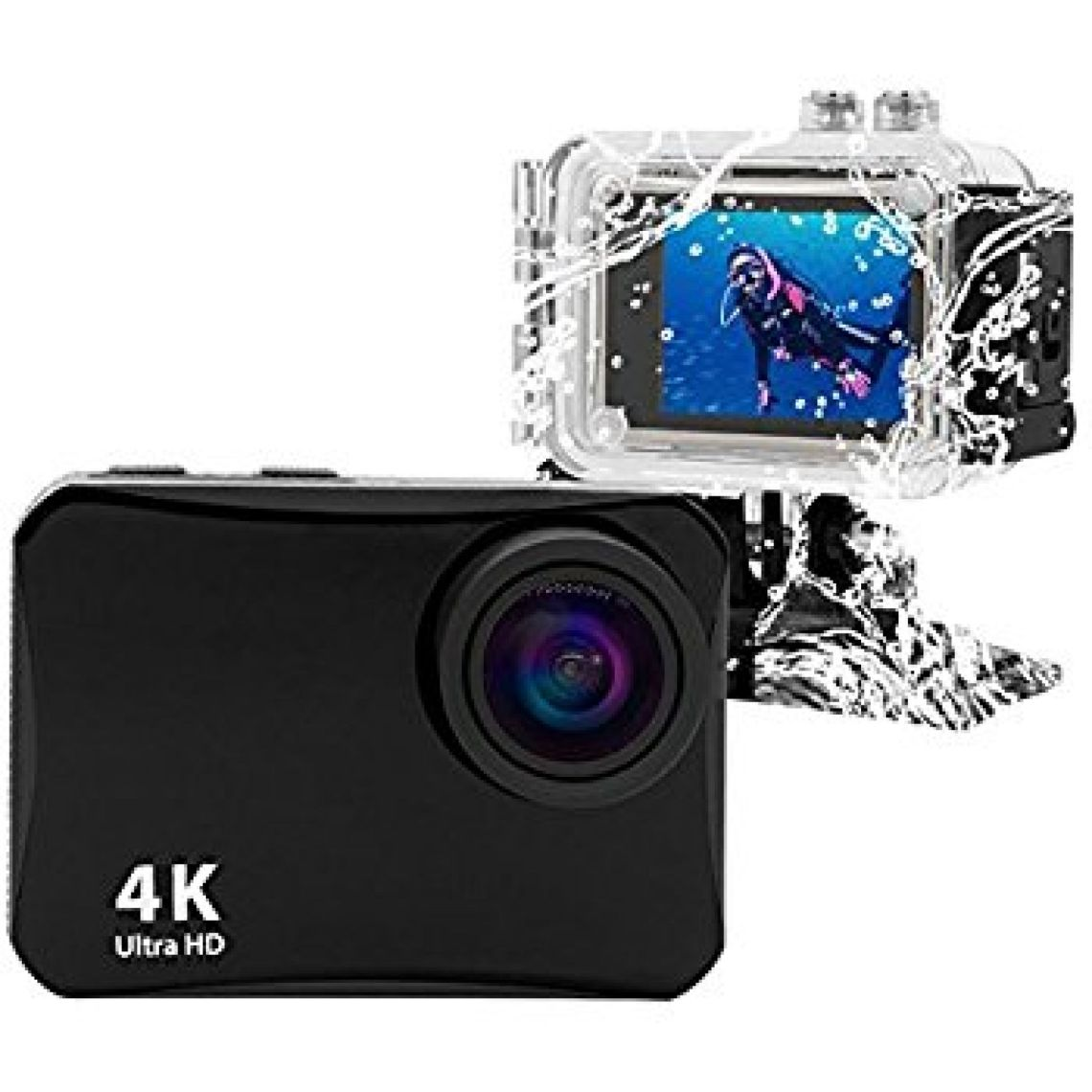 Amazon.com : Action Camera 16MP 4K WiFi Waterproof Sports Cam 150 Degree Ultra Wide-Angle Len with Rechargeable Batteries and Mounting Accessories Kits Black : Electronics