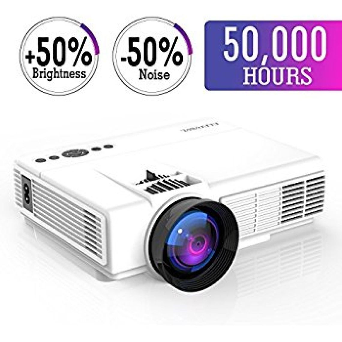 Amazon.com: Mini Projector,2018 Upgraded LED Video Projector +50% Brighter,+20% lumens Portable Projector Support 1080P HDMI USB TF VGA AV for Home Theater For Watching 2018 FIFA World Cup: Electronics