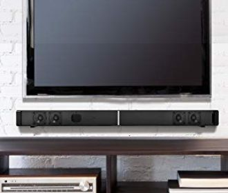 Buy TV Soundbar Speaker with 4 Drivers, Remote Controler, Wall Mountable and LED Indicator for $39.50