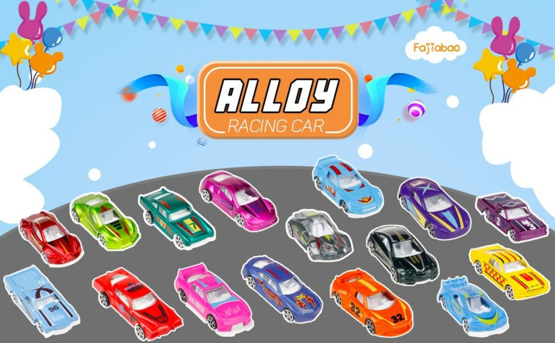Amazon.com: Fajiabao Race Car Metal Diecast Toys Model Cars Vehicle Set Collection Gift for Boys Girls Kids 16pcs: Toys & Games