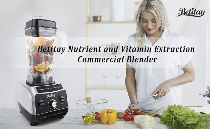 Amazon.com: Betitay Professional Commercial Blender 1500W High Speed Electric Mixer Nutrition Food Processors with 2 Litre BPA-Free Pitcher for Ice, Fruits, Vegetables, Smoothies and Soups: Home & Kitchen