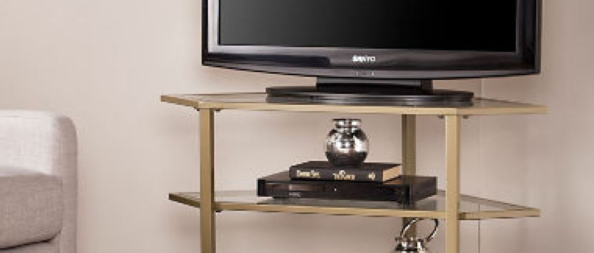 Buy Corner Media Stand, Choice of 3 Colors for $139.88