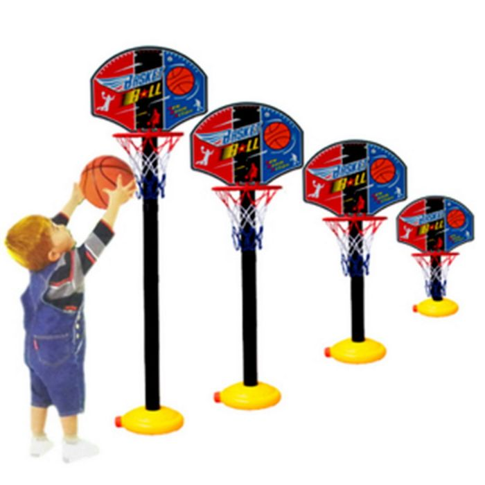Kids Sports Portable Basketball Toy Set with Stand Ball & Pump Toddler Baby - Walmart.com