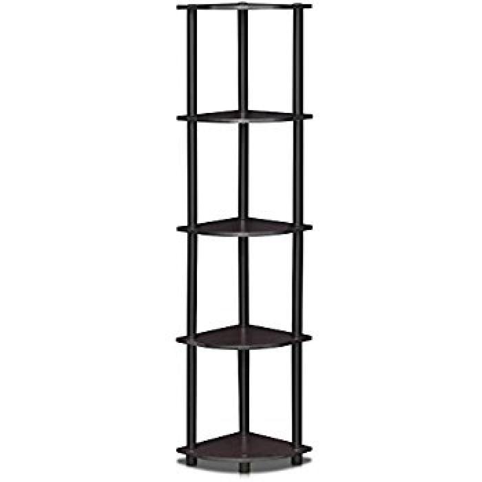 Amazon.com: Furinno 99811DWN Turn-N-Tube 5 Tier Corner Display Rack Multipurpose Shelving Unit: Home & Kitchen