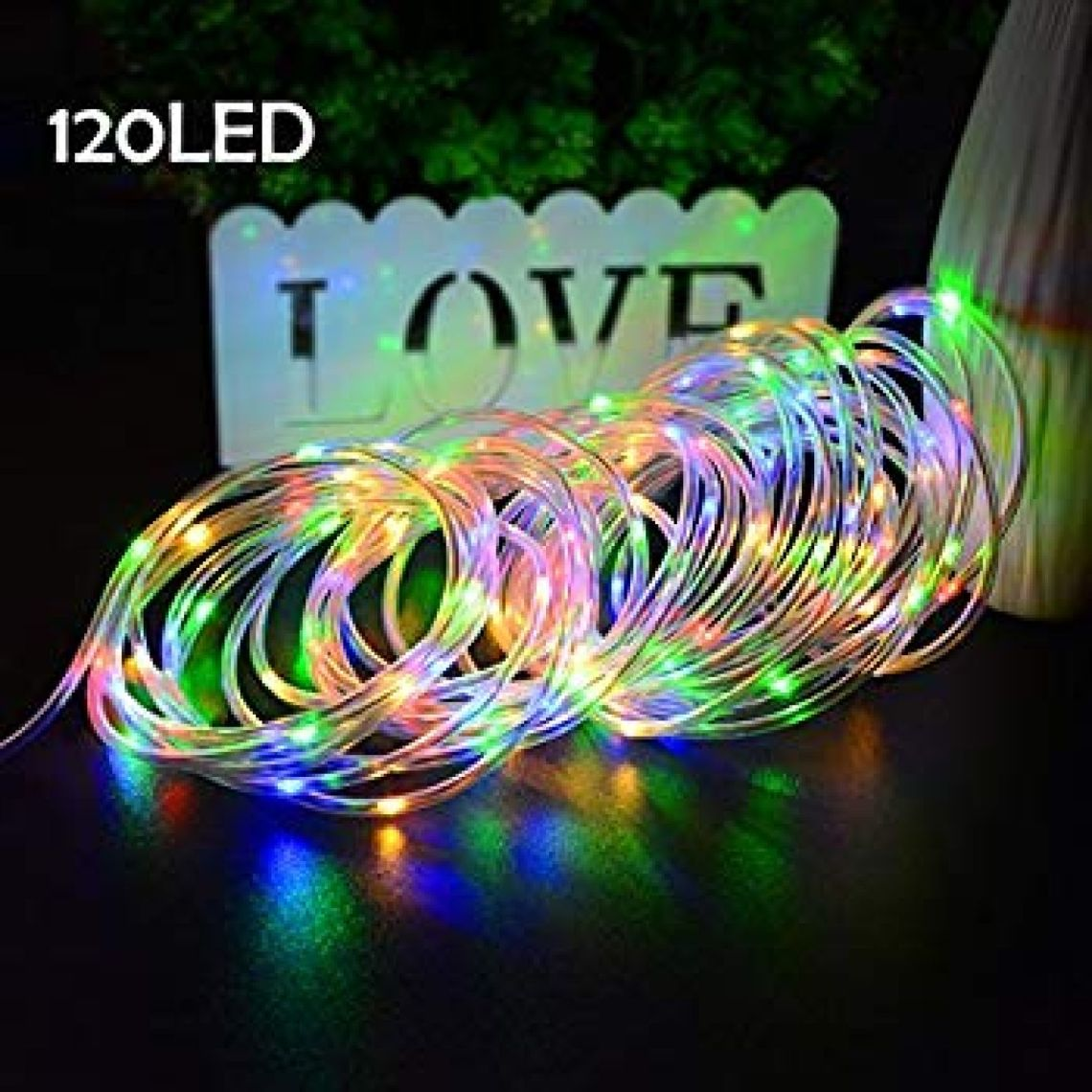 amazoncom vmanoo rope lights 120 led battery operated string fairy christmas lighting decor - Battery Christmas Lights Amazon