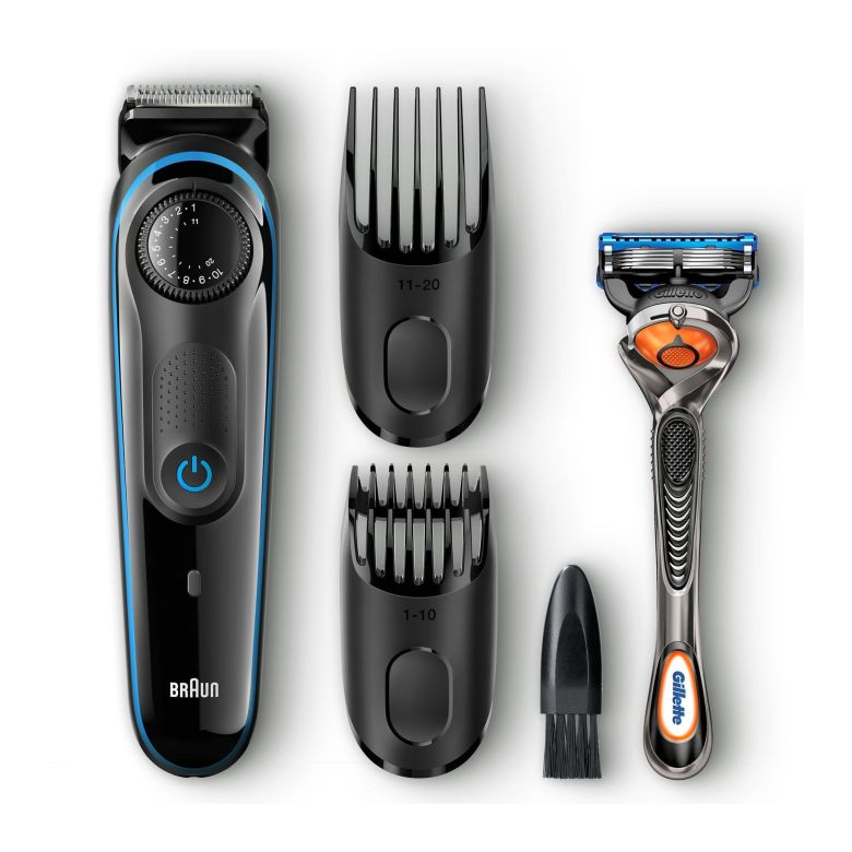 Amazon.com: Braun MGK3060 Men's Beard Trimmer for Hair / Head Trimming, Grooming Kit with 4 Combs & Gillette Fusion Razor, 13 Length Settings for Ultimate Precision: Beauty