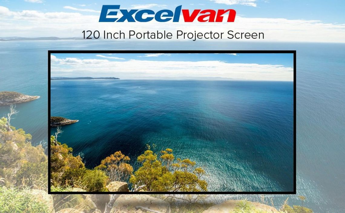 Amazon.com: Excelvan Indoor Outdoor Portable Movie Screen 120 Inch 16:9 Home Cinema Projector Screen Roll Easily, PVC Fabric: Electronics