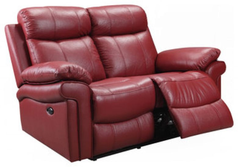 Hudson Power Reclining Top Grain Leather Loveseat - Contemporary - Loveseats - by Oliver Pierce
