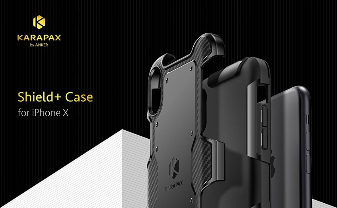 Amazon.com: iPhone X Case, iPhone 10 Case, Anker KARAPAX Shield+ Case Dual Layer Heavy Duty Tough Military-Grade Certified Protection Good Grip [Support Wireless Charging] for Apple 5.8 In iPhone X (2017) -Black: Cell Phones & Accessories