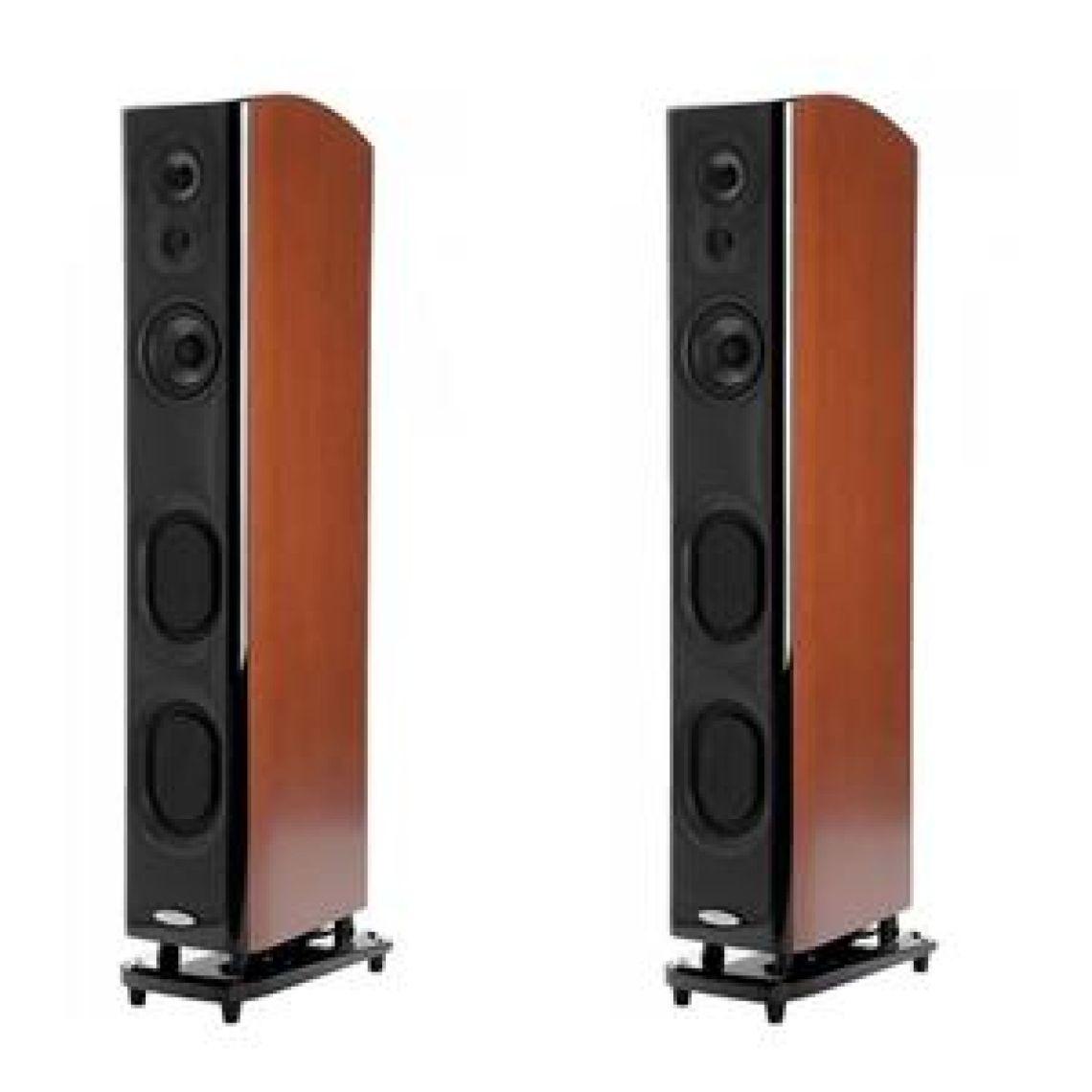 "Polk Audio 2 Pack LSiM705 47"" Floorstandng Tower Speaker Single Mt Vernon Cherry"