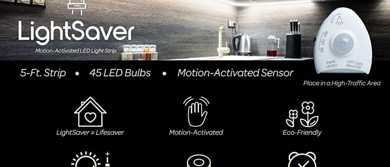 Buy motion sensing LED light strips for $12