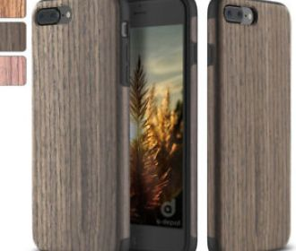 Buy Real Wood Slim Fit Hybrid Case for iPhone 7, 7 Plus, 8, 8 Plus & X for $3.99