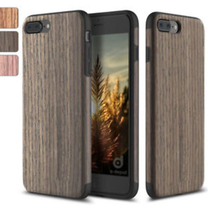 For Apple iPhone X/8/7 Plus Real Wood Wooden Slim Fit Hybrid TPU Case Cover | eBay