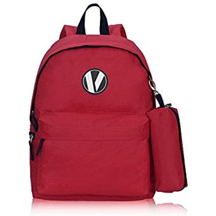 Amazon.com: Veegul School Backpack Set with Pencil Case for Teens Boys Girls Red: Clothing