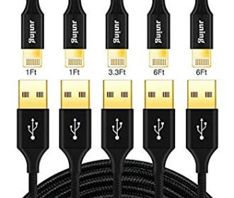 Buy 5Pack Lightning Cable Nylon Braided iPhone Charger Cord for $4.49 (Reg : $8.99)