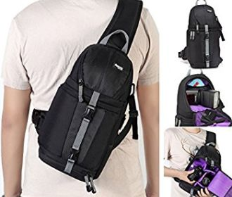 Buy Camera Case Sling Backpack for Nikon Canon Sony and Other DSLR Cameras and Lens,Tripod for $18.59 (Reg : $30.99)