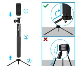 Buy 2 In 1 Portable Phone Tripod Camera Stand with Remote Control for $15.33 (Reg.$23.59)