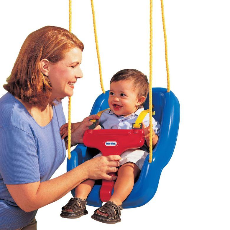Little Tikes 2-in-1 Snug 'n Secure Swing Blue - Walmart.com