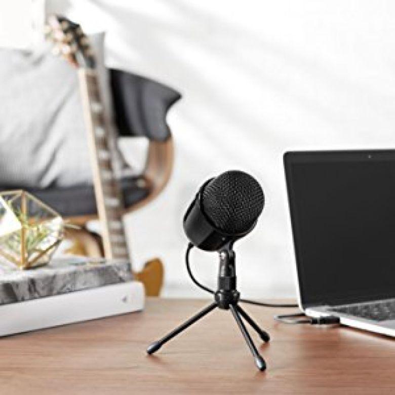 Amazon.com: AmazonBasics Desktop Mini Condenser Microphone - Black: Musical Instruments