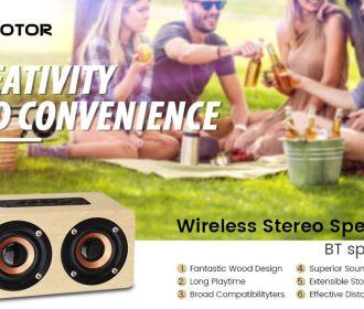 Buy 10W Wood Grain Bluetooth Speaker for $10.99 (Was $21.99)