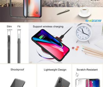 Buy Shockproof Transparent Clear Hard Back Case for iPhone X for $1.50