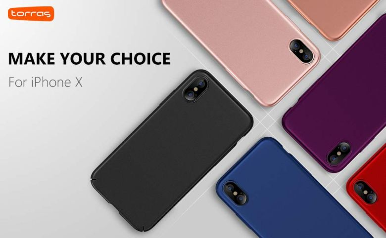Amazon.com: TORRAS Slim Fit iPhone X Case 2017 (ONLY), Hard Plastic PC Ultra Thin Mobile Phone Cover Case with Matte Finish Coating Grip Compatible with iPhone X (2017), Space Black: Cell Phones & Accessories