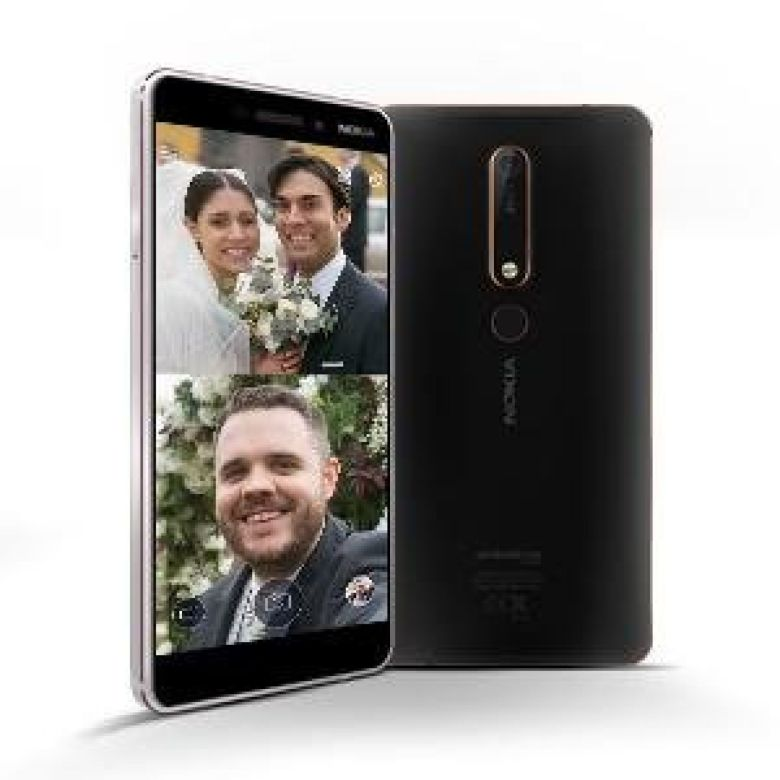 """Amazon.com: Nokia 6.1 (2018) - Android One (Oreo) - 32 GB - Dual SIM Unlocked Smartphone (AT&T/T-Mobile/MetroPCS/Cricket/H2O) - 5.5"""" Screen - Black - U.S. Warranty: Cell Phones & Accessories"""