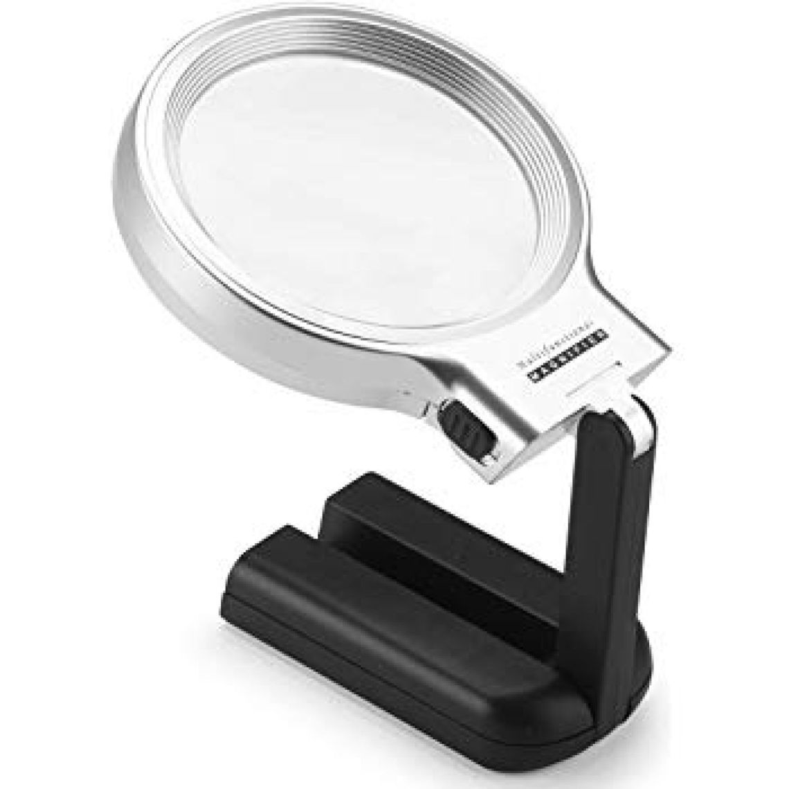 Amazon.com: LED Lighted Hands Free Magnifying Glass Light Stand Dicfeos- 3X 4.5X Large Handheld Illuminated Magnifier Reading, Inspection, Soldering, Needlework, Repair, Hobby & Crafts: Toys & Games