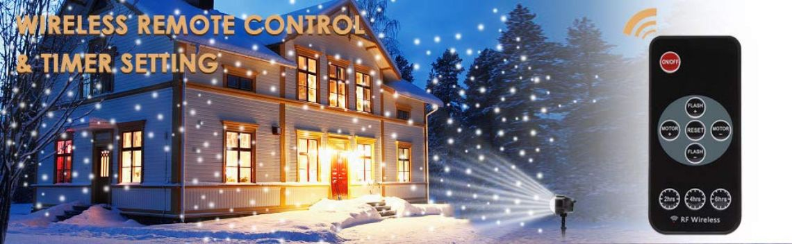 Amazon.com: Christmas Projector Lights Outdoor, ALOVECO LED Snowfall Landscape Projector Light with Wireless Remote for Christmas, Halloween, Holiday, Outdoor, Party Decorations: Home Improvement