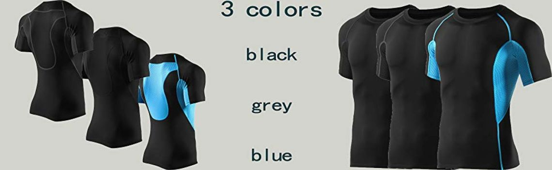 Amazon.com: PRETTYWELL Men's Compression T-Shirt Cool Dry Workout Sports Baselayer MAT66-DarkGrey-XXXL: Clothing