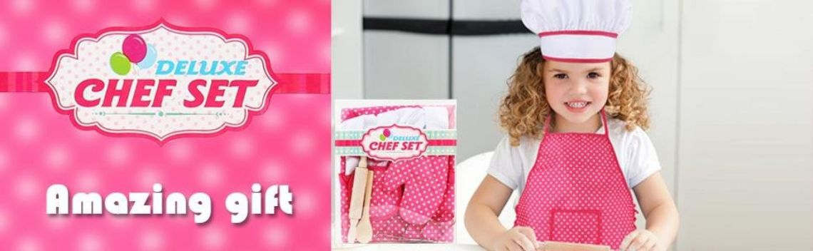 Amazon.com: Mansalee Chef Set for Kids, Girls Apron Set, Easter Cookie Cutter Set, Cooking Play Set, 11 Pcs Great Gift, Chef Hat, and Other Accessories for Toddler Career Role Play Children Pretend Play (Pink): Toys & Games