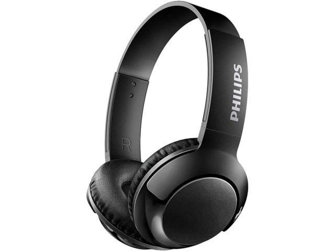Philips SHB3075BK BASS+ Wireless Bluetooth On-The-Ear Headphones with Mic - Black - Newegg.com