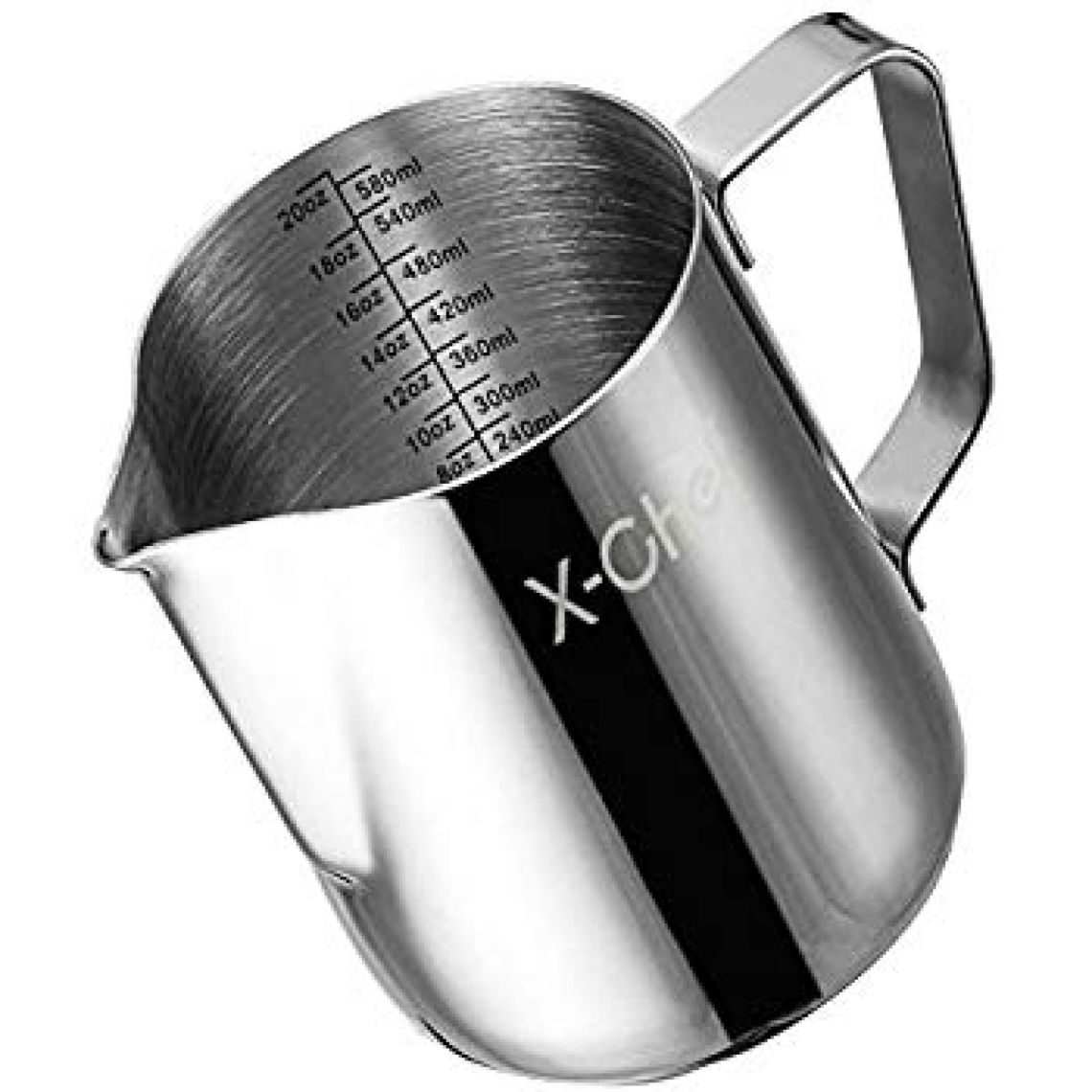 Amazon.com: Milk Pitcher, Stainless Steel Frothing Pitcher, Koncle Frothing Milk with Measurement Markings for Latte Art, Cappuchinos, Expresso, Cream, Water, Juices, Smoothies, Pro Barista & Home Use (28oz): Kitchen & Dining