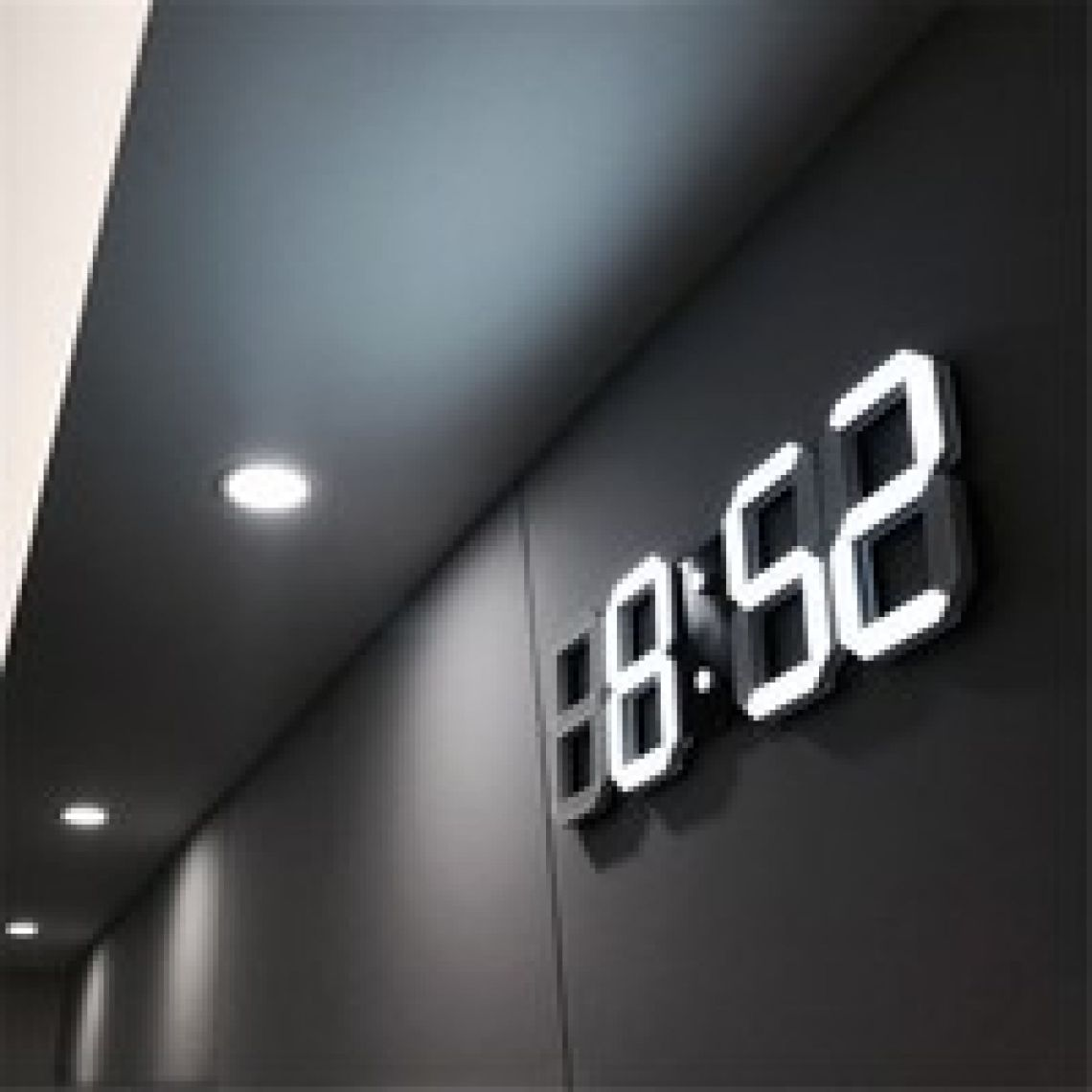 wish | 4 Color LED Digital Numbers Wall Clock with 3 levels Brightness Alarm Snooze Clock