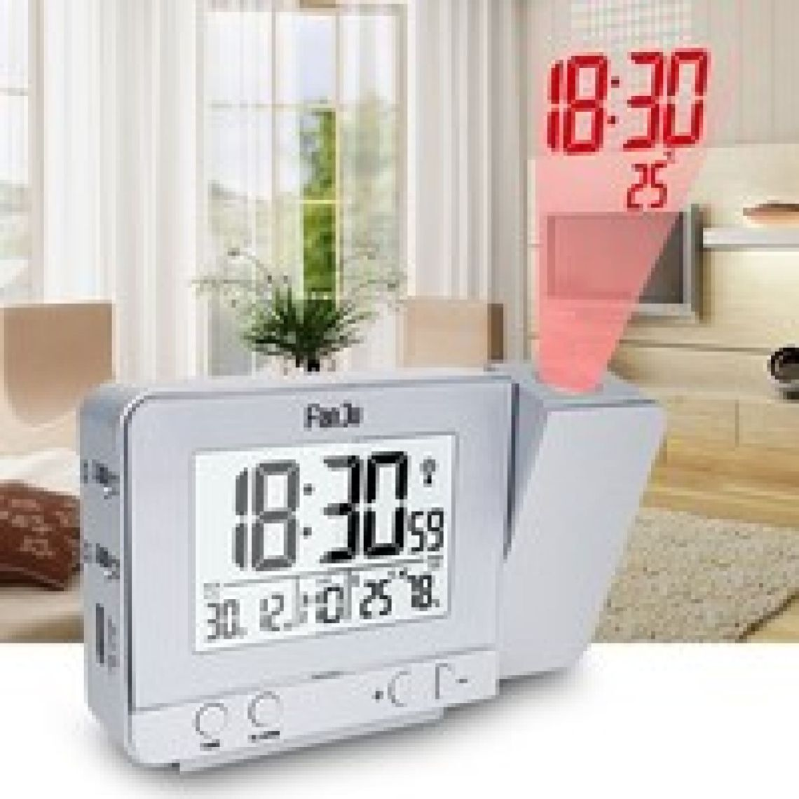 wish | FanJu FJ3531 Projection Alarm Clock with Temperature and Time Projection / USB Charger/ Indoor Temperature and Humidity