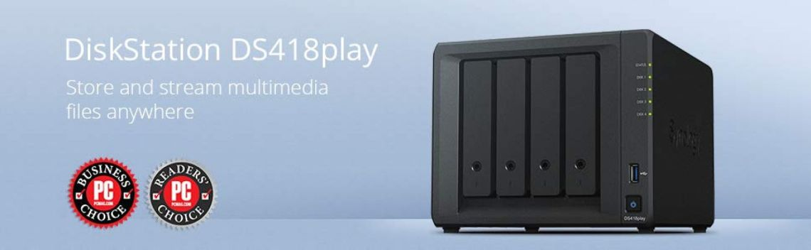 Amazon.com: Synology DS418play NAS Disk Station, 4-bay, 2GB DDR3L (Diskless): Computers & Accessories