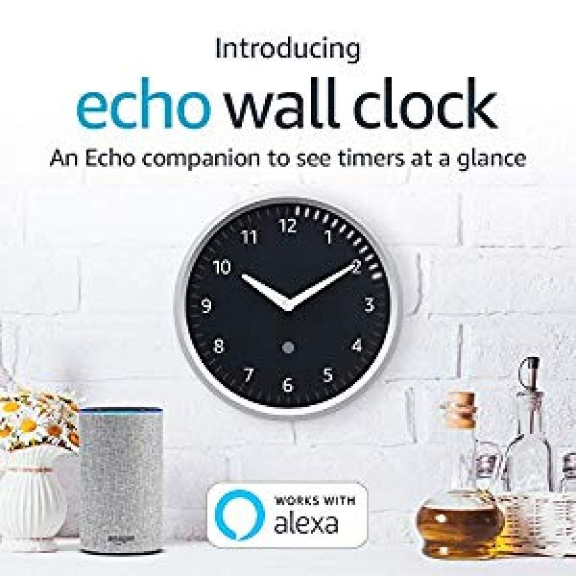 Amazon.com: Echo Wall Clock - see timers at a glance - requires compatible Echo device: Amazon Devices
