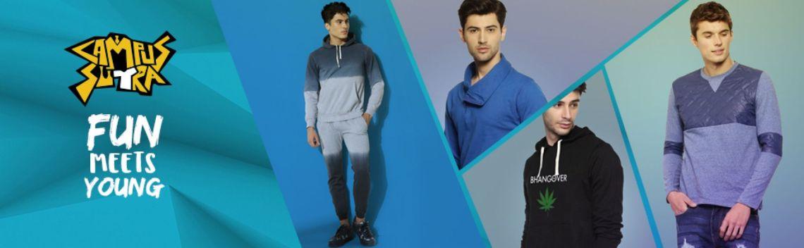 Campus Sutra Men's Cotton Sweatshirt: Amazon.in: Clothing & Accessories