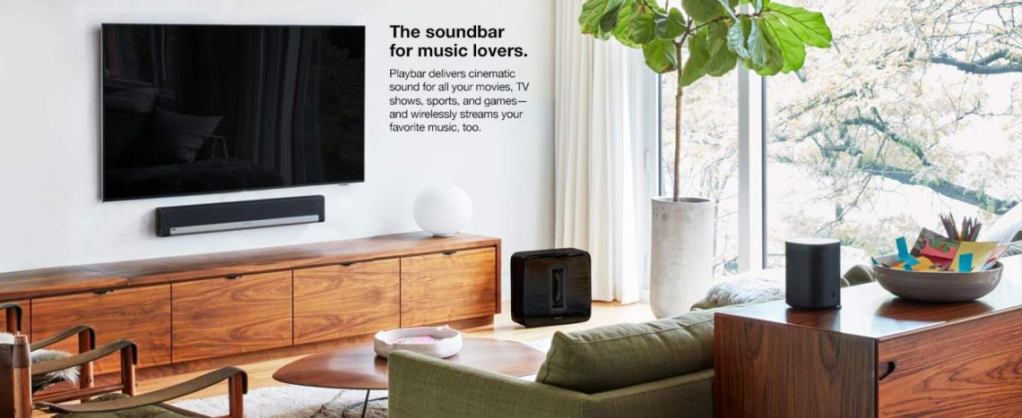 Amazon.com: Sonos Playbar TV Soundbar with Sonos Wall Mount Kit + $50 Amazon Giftcard: Home Audio & Theater