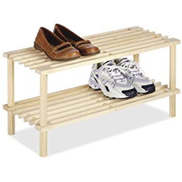 Amazon.com: Whitmor 2 Tier Wood Household Shelves: Home & Kitchen