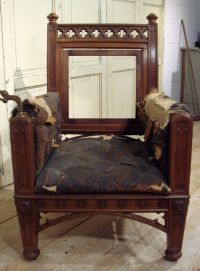 English Oak Gothic library Chair - Stock - Dean Antiques ...