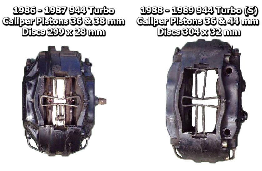 Brake Caliper Comparison 86-87 Turbo to 88-89 Turbo (S)