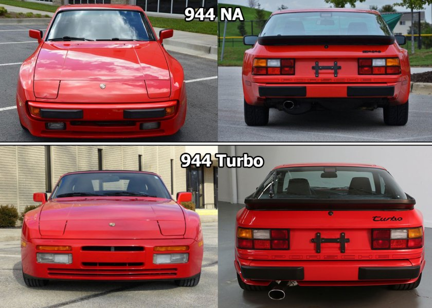 Porsche 944 and Porsche 951 body style difference