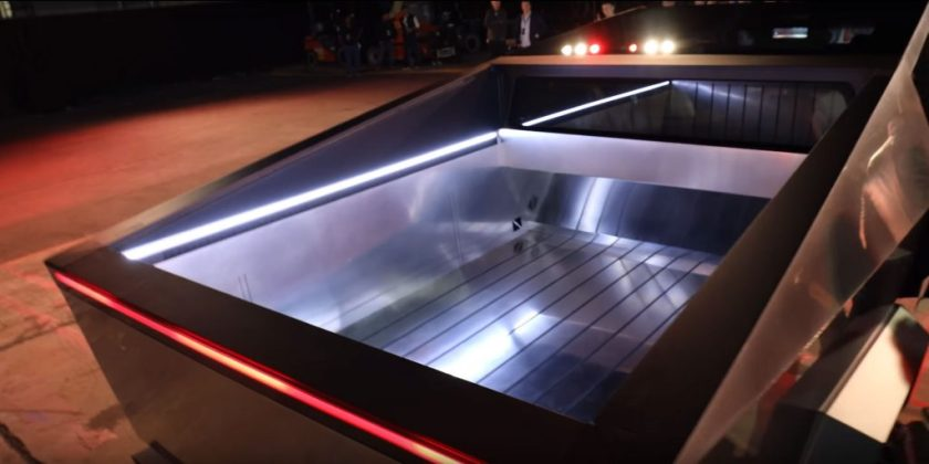 Tesla Cybertruck Electric Pickup Truck Bed Vault