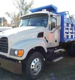 2007 mack granite cv713 tandem axle dump truck s n 1m2ag11y57m060607 diesel eng 10 sp 11r24 5 rears on steel disc 11r22 5 fronts on alum  [ 1200 x 900 Pixel ]