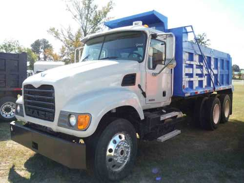 small resolution of 2007 mack granite cv713 tandem axle dump truck s n 1m2ag11y57m060607 diesel eng 10 sp 11r24 5 rears on steel disc 11r22 5 fronts on alum