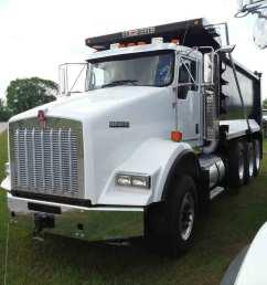 2015 kenworth t800 tri axle dump truck s n 1nkdl40x8fr471300 cummins isx15 500hp eng 10 sp 18740 lb front w 385 65r22 5 flotation tires on alum  [ 1200 x 900 Pixel ]